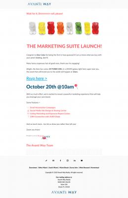 Marketing Suite Launch